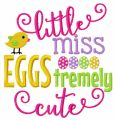 Litttle miss eggs tremely cute embroidery design