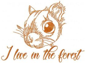 I live in the forest free machine embroidery design