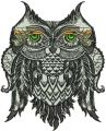 Owl granny 2 embroidery design