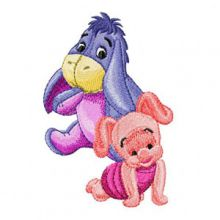 Baby Eeyore and Piglet together