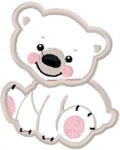White bear applique