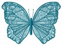 Night blue butterfly
