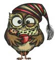 Owl in the morning 2 embroidery design