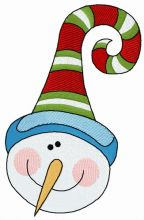 Snowman with funny hat 2
