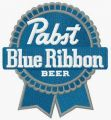 Pabst Blue Ribbon logo embroidery design