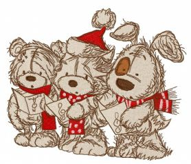 Christmas songs 4 machine embroidery design