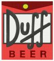 Duff Beer logo embroidery design