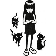 Emily the Strange with Cats
