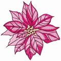 Gorgeous pink flower embroidery design
