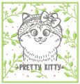 Pretty kitty 3 embroidery design