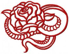 Tribal red rose
