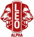 Leo Club logo embroidery design