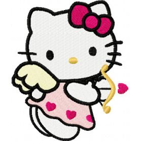 Hello Kitty Cupid machine embroidery design