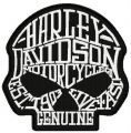 Harley Davidson scull embroidery design