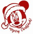 Adorable Minnie Merry Christmas embroidery design