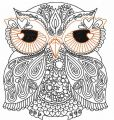 Owl redwork 2 embroidery design