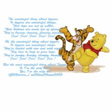 Winnie Pooh and Tigger sing a song