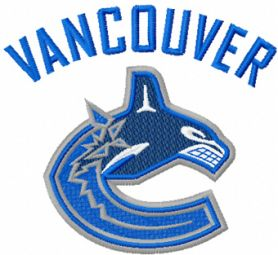 Vancouver Canucks logo machine embroidery design