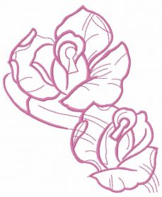 Violet rose free embroidery design