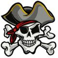 Pirate's skull 2 embroidery design