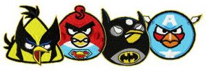 Superheroes angry birds