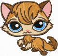 Littlest Pet shop Kitty  embroidery design