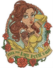 Till the last petal falls machine embroidery design