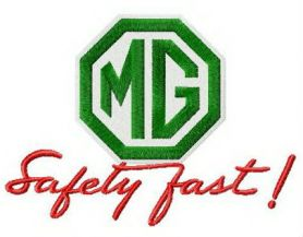 Morris Garages logo machine embroidery design