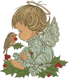 Christmas angel 3 machine embroidery design