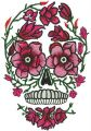 Disguised skull embroidery design
