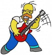 Homer rock star