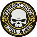 Harley Davidson round patch embroidery design