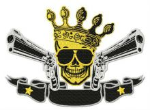 Skull, crown, guns 2
