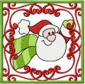 Santa Happy Christmas coming soon embroidery design