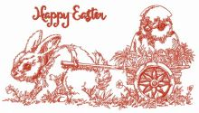 Easter bunny with cart