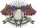 American baseball embroidery design
