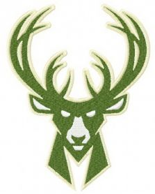 Milwaukee Bucks logo 4 machine embroidery design