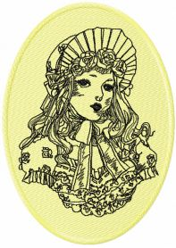 Beautiful Girl machine embroidery design from Vintage collection