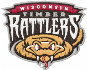 Wisconsin Rattlers logo machine embroidery design