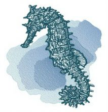 Seahorse at sea depth