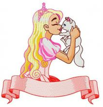 Princess with cute kitten 2