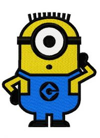 Silent Minion machine embroidery design