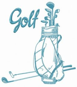 Golf equipment machine embroidery design