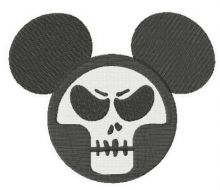 Mickey with skull mask