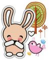 Bunny laughs 2 embroidery design