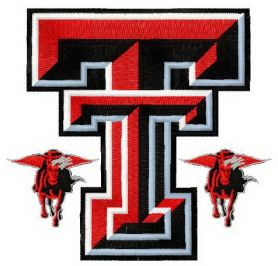 Texas Tech Red Raiders and Lady Raiders logo 2 machine embroidery design