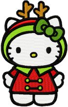 Hello Kitty Christmas Costume