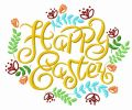 Happy Easter 3 embroidery design