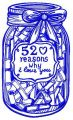 52 reasons why I love you 3 embroidery design