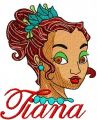 Tiana 5 embroidery design